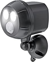 Mr Beams 300-Lumen Weatherproof Wireless Battery Powered LED Ultra Bright Spotlight with Motion Sensor, Brown, MB390-BRN-0...