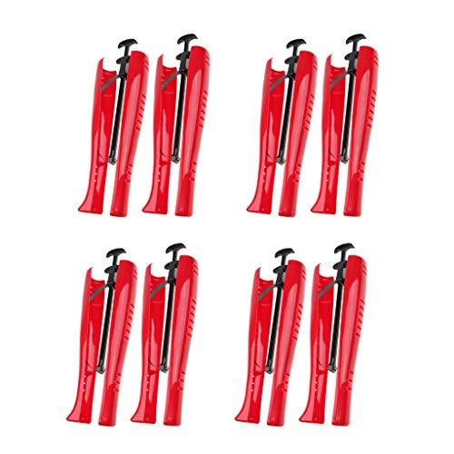 sharprepublic 4 Paar Stiefelspanner mit Spannfeder & Griff Schaftformer 29cm, Schuhspanner Stiefelschaftformer Schaftspanner Stiefelformer