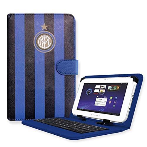 Techmade PK-07X-INTER Custodia Tablet 7', Griffato FC Internazionale Milano, in Ecopelle, Nero/Azzurro