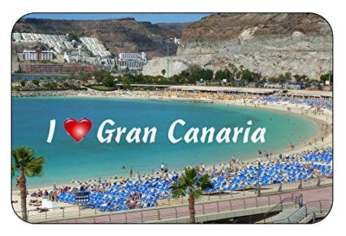 Cadora Magnetschild Kühlschrankmagnet I love Gran Canaria