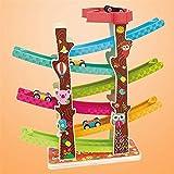 Dirgee Holzblock Pädagogisches Spielzeug Track Parkgarage Set Jungen und Mädchen Geschenke for Kleinkind Spielzeug Rennwagen Rampe Rampen (Farbe: Mehrfarbig, Größe: Freie Größe)