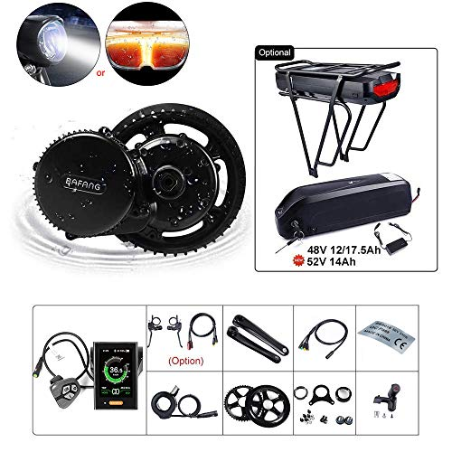 Great Deal! BAFANG BBS02B 48V 750W Ebike Motor with LCD Display 8fun Mid Drive Electric Bike Convers...