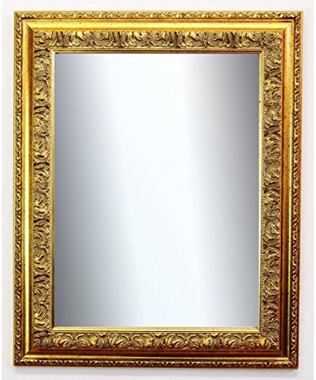 Spiegel Wandspiegel Badspiegel Flurspiegel Garderobenspiegel - über 200 Gren - Rom Gold 6,5 - Gre des Spiegelglases DIN A1 (59,4 x 84,1 cm) - Wunschmae auf Anfrage - Antik, Barock