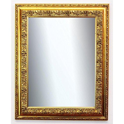 Spiegel Wandspiegel Badspiegel Flurspiegel Garderobenspiegel - Über 200 Größen - Rom Gold 6,5 - Außenmaß des Spiegels DIN A2 (42,0 x 59,4 cm) - Wunschmaße auf Anfrage - Antik, Barock