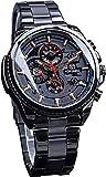 QHG Multifuncional Negro de Acero Inoxidable para Hombre Deportivo Militar Reloj de Pulsera automática de Lujo de la Marca