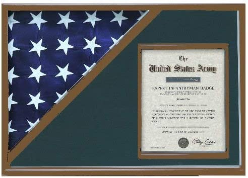 Shadow Box Max 87% OFF for 5' x Manufacturer regenerated product 9.5' Flag Wal Document 11 Holder with 8.5