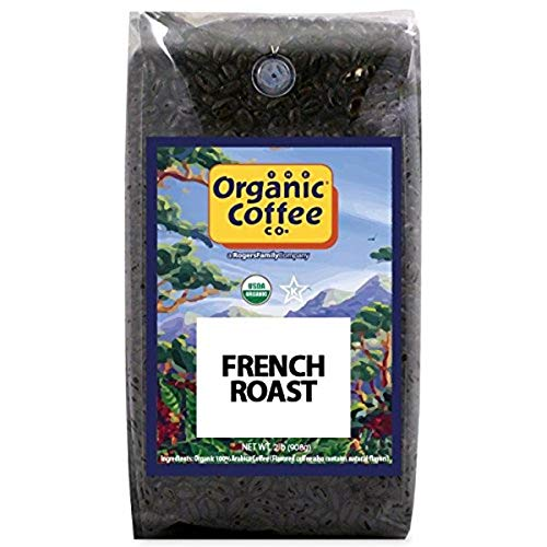 Organic Coffee Co. French Roast Whole Bean Coffee 2LB (32 Ounce) Dark Roast USDA Organic