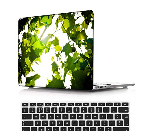 NEWCENT New MacBook Pro 15' Case,Plastic Ultra Slim Light Hard Case UK Keyboard Cover for Mac Pro 15 with Touch Bar 2016-2018 Release (Model:A1707/A1990),Flowers A 0332