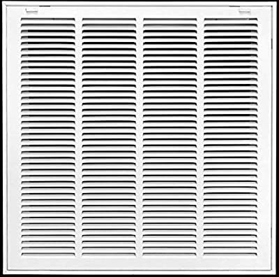 """"""" X"""" Return Air Filter Grille Filter Included - Removable Face/Door - HVAC Vent Duct Cover - White [Outer Dimensions: 1.75w X 1.75h]"""