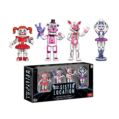 Gogowin Five Nights at Freddy'S : Sister Location 4-Piece Set (1 Set) Games Fans 2-Inch