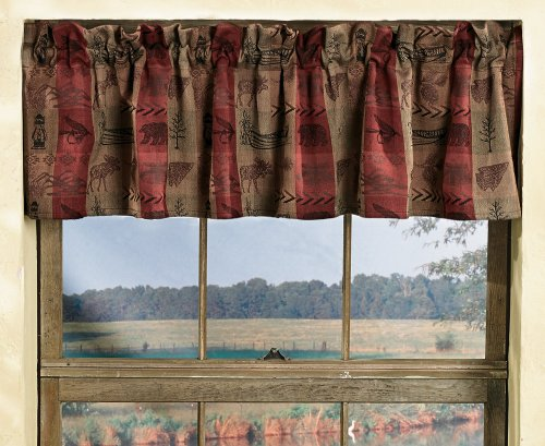 Black Forest Décor High Country Rustic Valance - Wilderness Window Decor
