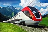 YANCONG Puzzles 500 Piezas, Tren Bala Suizo Suiza