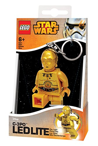 LEGO STAR WARS - Llavero Ledlite con diseño de C3PO, Color Amarillo (812673L)