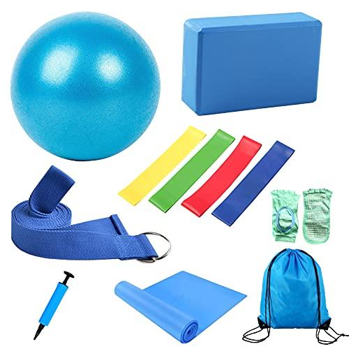 11pcs Yoga Beginner Equipment Set with Yoga Ball,Yoga Block,Yoga Stretching...