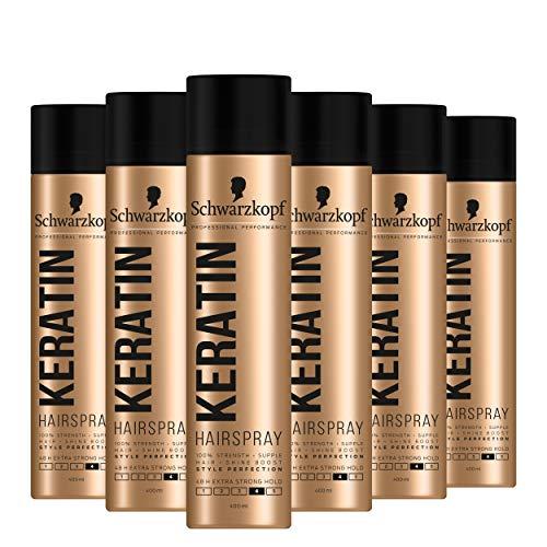 Schwarzkopf Professional Styling Keratin Hairspray, 48HR Extra Strong Hold,...