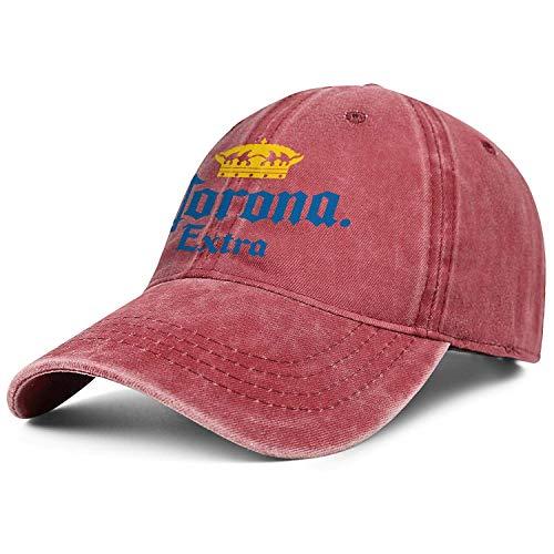 Alanader Unisex Cowboyhut Corona-Bier-Logos- Sun Cap Herren 'Damen' Flache Baseballmütze