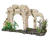 Nobby Decoración para Acuario, diseño de Arcos Antiguos con Plantas, 28,5x 18,5x 24cm.