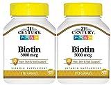 21st Century Biotin 5000 mcg Capsules,2 Count
