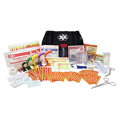 Dixie EMS First Responder Fully Stocked Trauma First Aid Kit - Black