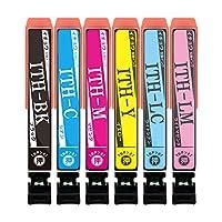 横トナ エプソン用 イチョウ互換 ITH-6CL互換インク 6色セット [対応機種] EP-709A / EP-710A / EP-711A / EP-810AB / EP-810AW / EP-811AB / EP-811AW