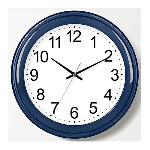 LCHY TB - Reloj de pared con pilas de 14 pulgadas, silencioso, contemporáneo, simple y moderno, no se puede personalizar para salón, dormitorio, decoración del hogar, reloj (color B)