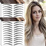 Aresvns Tattoo Eyebrows 66 Pairs!Newly Improved Good Looking Eyebrows Tattoo Sticker,Realistic Imitation Eyebrows Tattoo,Popular Black Eyebrow for Women Girls Waterproof and Long-Lasting 3-5 Days