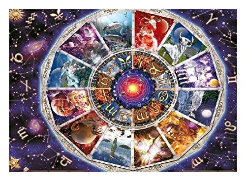 JAZC Puzzle 9000 Pezzi di Cartone Puzzle Puzzle educativi dei Bambini Adulti Puzzle Toy Astrologia Famiglia Interactive Toy