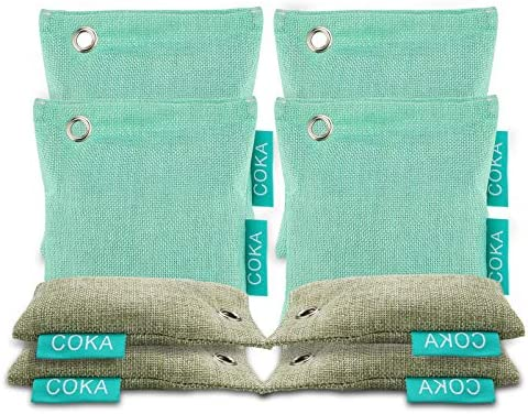 Bamboo Charcoal Air Purifying Bag 8 Pack Nature Fresh Charcoal Bags Charcoal Air Purifier Bags product image
