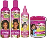 African Pride - Champú, acondicionador, spray trenzado y acondicionador sin enjuague Dream Kids