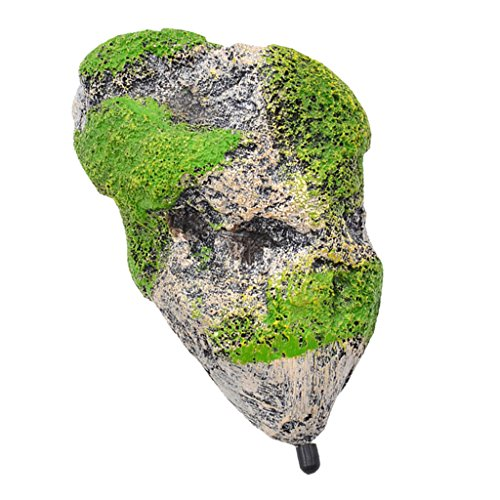 Generic Aquarium Terrarium Ornamente Schwimmenden Stein Rock Felsen mit Saugnapf Dekoration - M