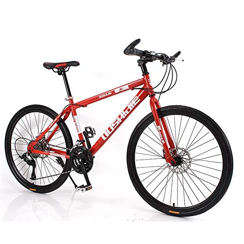Find Bargain Hybrid Bike Outdoor Sports Cycling Bicycle Dual Disc Brake (Color : Red, Size : 27 Spee...