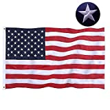 Jetlifee American Flag 3x5 Ft Embroidered Stars, Sewn Stripes, Brass Grommets US Flag Outdoors Indoors USA Flags Polyester 3 x 5 Foot
