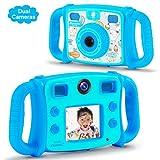 DROGRACE Kids Kamera Dual Objektiv Digital Video Kamera 1080p FHD Selfie Duo Kamera...