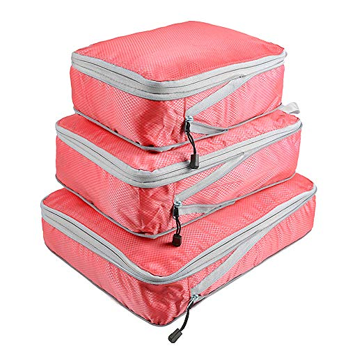 Entweg Storage Pouch, 3pcs Packing Cube Set Compression Bags Luggage Organizer for Travel Bussiness Trip,Packing Cube Set