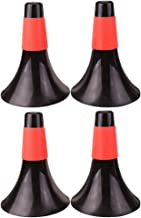 LIOOBO 4 Pcs Plastic Traffic Cones Windproof Sport Training Agility Marker Cone for Soccer Skating Football Basketball Indoor Outdoor Games Black