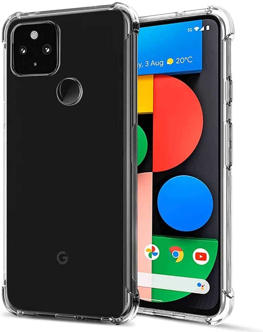 FollmeAir for Pixel 5A 5G Case, Slim Flexible TPU for Girls Women Airbag Bumper Shock Absorption Rubber Soft Silicone Case Cover Fit for Google Pixel 5A 5G (Clear)