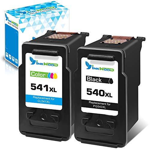Inkwood 540 541 XL - Cartuchos de tinta de repuesto para Canon PG 540XL CL 541XL para Pixma MG2450 MG2250s MG2950 MG3050 MG3200 MG3650 TR4550 TS3150 TS5150 TS5151