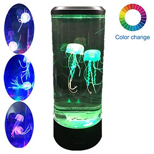 DSYYF Jellyfish Mood Lamp LED Fantasy Jellyfish Lamp, lámpara de Escritorio para decoración USB Charging 7 Color Night Light, Aquarium Mood Lamp