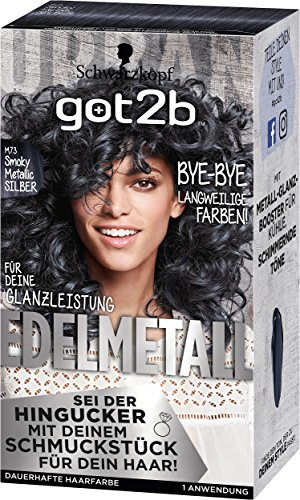 Schwarzkopf got2b Metallics, M73 Smokey Steel Stufe 3, 1er Pack (1 x 143 ml)