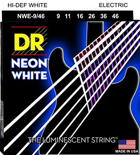 DR Strings - farbige Gitarren Saiten - white, 009 - 046