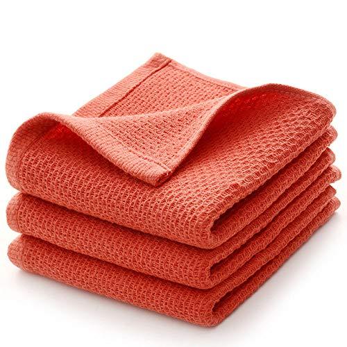 A/N 1 unid algodón Super Suave Toalla de Nido de Abeja Cabello súper Absorbente Toallas faciales Toalla de baño de Viaje para el Hotel casero, Rojo