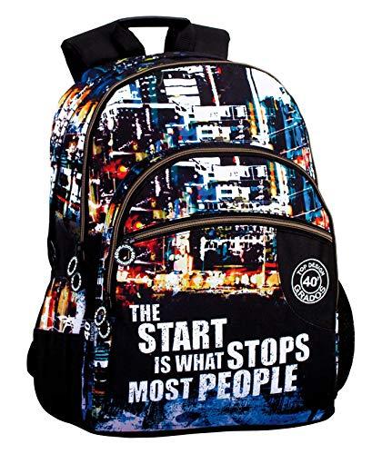 Montichelvo Montichelvo Double Backpack A.O. CG People Bolsa Escolar, 43 cm, Multicolor (Multicolour)
