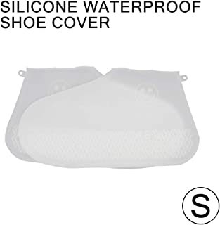 (1 pair 2PCS) Silicone Shoe Covers, Waterproof and Snowproof, Rainproof Non-slip, Environmental Non-Disposable (Small, Clear)