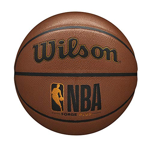 """Wilson NBA Forge Series Basketball - Forge Plus, Brown, Size 5 - 27.5"""""""