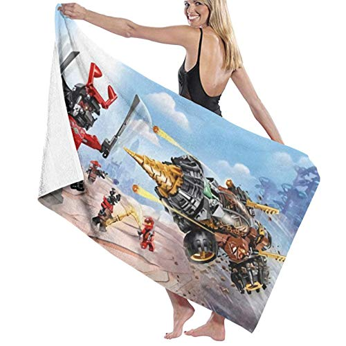 Ninja_Go Quick Fast Dry Thin Sand Free Beach Towel Super Absorbent Oversized Large Blanket for Travel Pool Swimming Bath Camping Yoga Girls Women Men