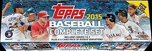 2015 Topps MLB Baseball Factory Sealed Set Retail Version Which Includes a Bonus Pack of 5 EXCLUSIVE Rookie Cards Featuring Kris Bryant
