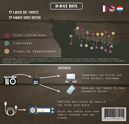 D-Day Box Audioguide Strände der Landung (Utah, Omaha, Gold, Juno, Sword)–inklusive: 3H Audio + MP3+ eBook + Grashüpfer + Karte (Modell Flagge Can)