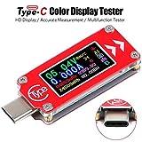 Multimetro Tester di Tensione di Tipo USB Voltmetro Amperometro Tester 0-4A 3.7-30V Tipo-C...