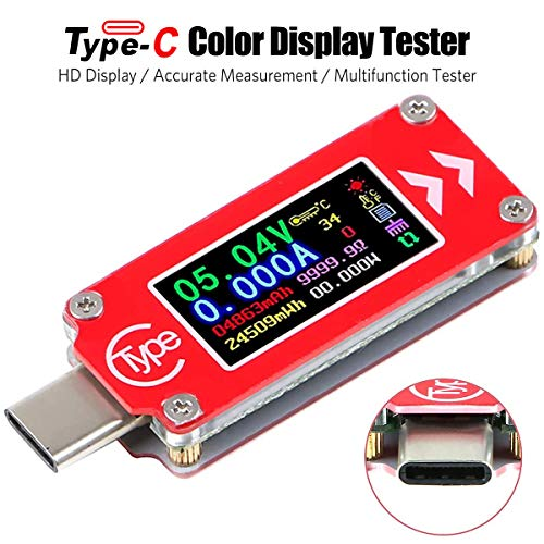 Innovateking-EU Typ-C USB Spannungsprüfer USB Tester Multimeter Voltmeter Amperemeter Multifunktions Anzeige Kapazität Spannung Strom 0.96 Zoll IPS HD Display 0-4A 3.7-30V TC64