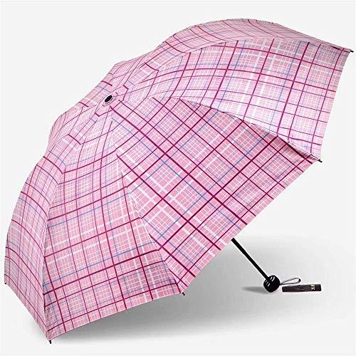 YNHNI Paraguas, paraguas de verano al aire libre, paraguas de enrejado moderno, paraguas de protección solar UV, paraguas de regalo, portátil (color: rosa)